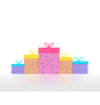 christmas gift boxes decorated by stars and moons vector image