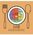 clean eating volume design vector image vector image