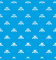 coconut pattern seamless blue vector image vector image