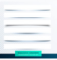 collection of paper shadows effect vector image vector image