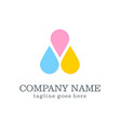 color droplet logo design vector image vector image