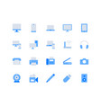computer devices simple flat icons vector image