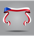 czech flag wavy ribbon background vector image