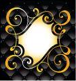 decorative swirl background vector image vector image