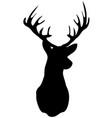 deer head silhouette vector image vector image