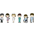 Doctors Nurse and Patients vector image