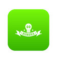 eureka icon green vector image
