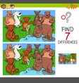 find differences with bears animal characters vector image vector image