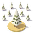 fir tree in the snow vector image vector image