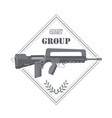 firearm logo template guns rifles badge flat vector image