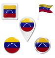 flag venezuela civil variant accurate vector image vector image
