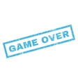 Game Over Rubber Stamp vector image vector image