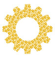 gear wheel mosaic of wheat seed icons vector image