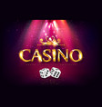gold casino background vector image