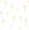 gold foil palm trees seamless pattern tile vector image vector image