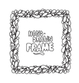Hand drawn square frame design vector image