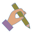 hand human writing icon vector image