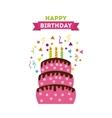happy birrhday cake celebration vector image vector image