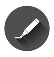 highlighter marker pen icon in flat style vector image