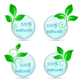 icons 100 natural vector image vector image