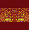 intricate shamanic psychedelic mirror pattern vector image vector image