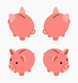 Isometric piggy bank vector image