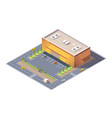 isometric supermarket or grocery store building vector image