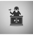 Judge With Gavel icon vector image vector image
