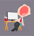 lazy man disinterested in boring routine bored vector image vector image
