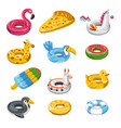 lifebuoy or inflatable balloons in shape animal vector image