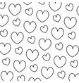 line beauty heart romance symbol background vector image vector image