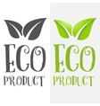 logo badge label logotype elements with leafs vector image vector image