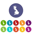 Map of Great Britain set icons vector image vector image