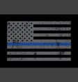 police support flag grey vector image