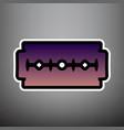 razor blade sign violet gradient icon vector image vector image