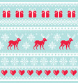reindeer pattern christmas seamless design vector image vector image