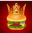 Royal Hamburger vector image vector image