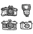 scribble series - cameras vector image