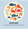 seafood promo banner with delicious exquisite food vector image vector image