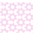 Seamless pattern of pink flowers illlustration vector image vector image