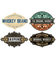 set of 4 labels or badges for packing vector image vector image