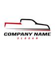 sport truck logo vector image vector image