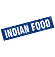 square grunge blue indian food stamp vector image vector image