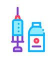 syringe and medicine beaker icon outline vector image