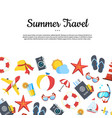 travel elements background with place vector image vector image