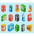 Vending Dispensing Machines Isometric Icons vector image vector image