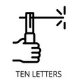 welder ten letters icon outline style vector image