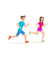 woman and man sport running or jogging couple vector image