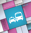 taxi icon sign Modern flat style for your design vector image