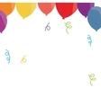 balloon confetti decoration party funny vector image